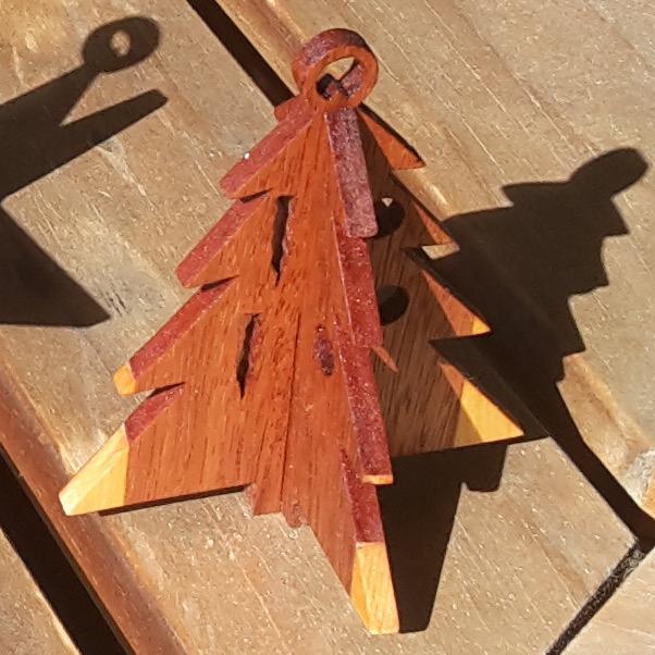 Wooden Slot Together Christmas Ornaments Trees Fynwood